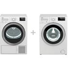 Beko WMY81683PTLB2 + Frontmatad tvättmaskin