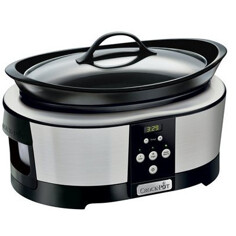 Crock-Pot 5,7 L Timer, Rostfri Slow cooker
