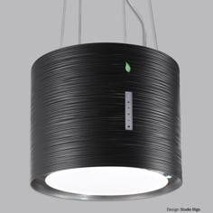 Falmec Twister frit 46 cm sort Vajerhängd köksfläkt