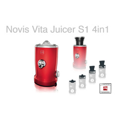 Novis Vita Juicer S1 Red Råsaftcentrifug