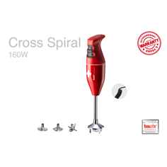 Bamix Cross Spiral Red Stavmixer