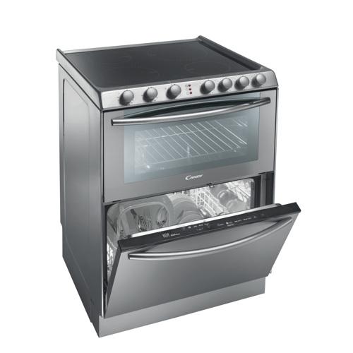 komfur med opvaskemaskine